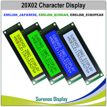 4 3 lcd display module with touch screen 202 20X2 2002 Character LCD Module Display Screen LCM Blue LCD with White LED Backlight