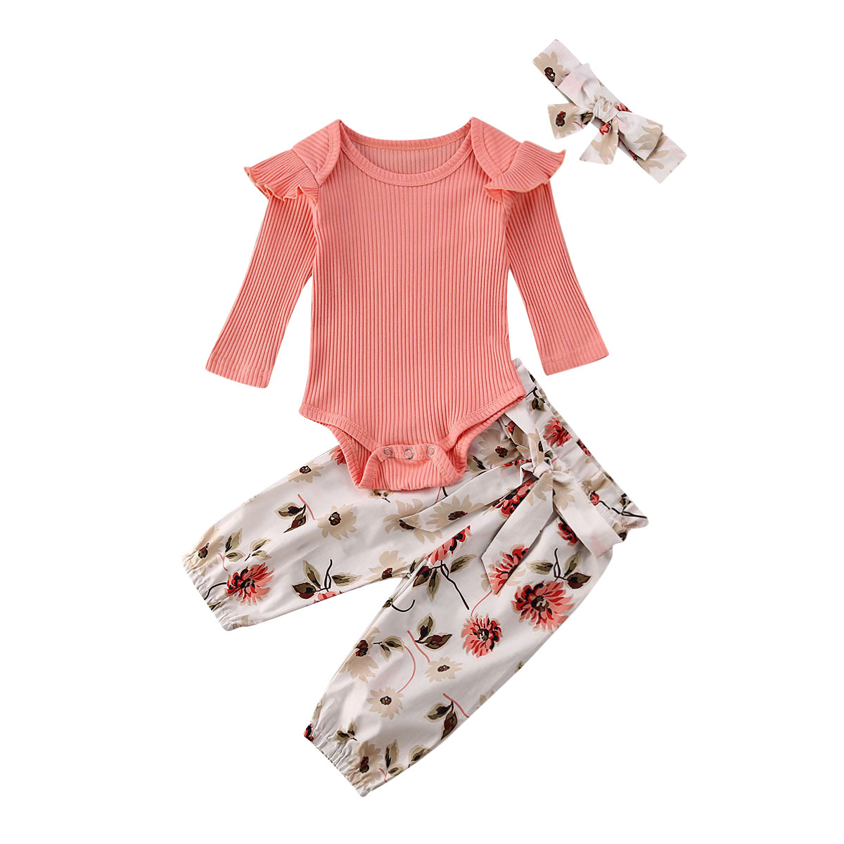 New Newborn Infant Baby Girl Clothes Set Tops Long Sleeve Romper Leggings Outfits Set Clothes
