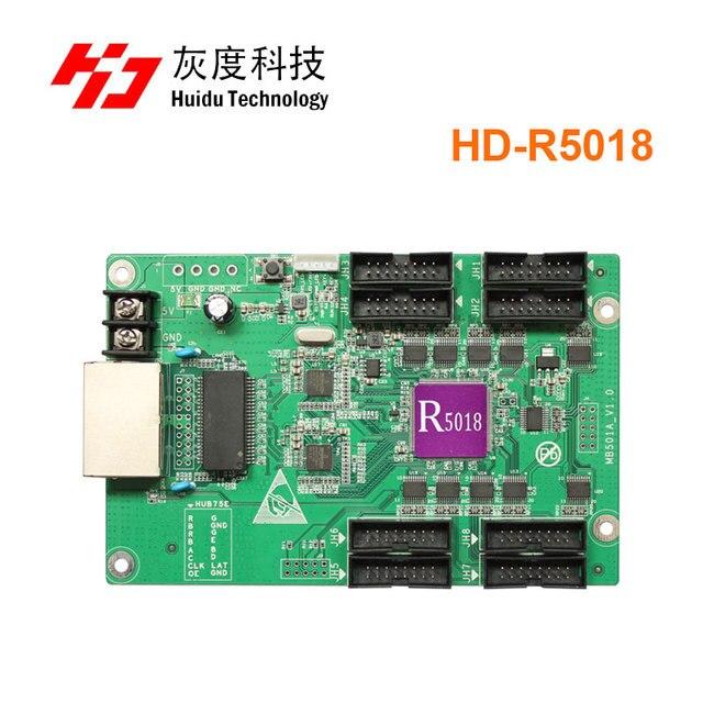 Gratis Verzending Huidu HD R5018 Hd R5018 Full Color Ontvangende Kaart Ondersteuning 3G/4G/Wifi Besteden Hd r5018 Werken Met HD C30/A30 T901