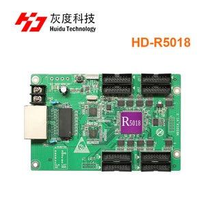 Image 1 - Huidu R5018 HD R5018 Huidu reklama wyświetlacz led HD R5018 RGB otrzymaniu karty 8xHub75E pracy portu z HD C15C C35C HD T901