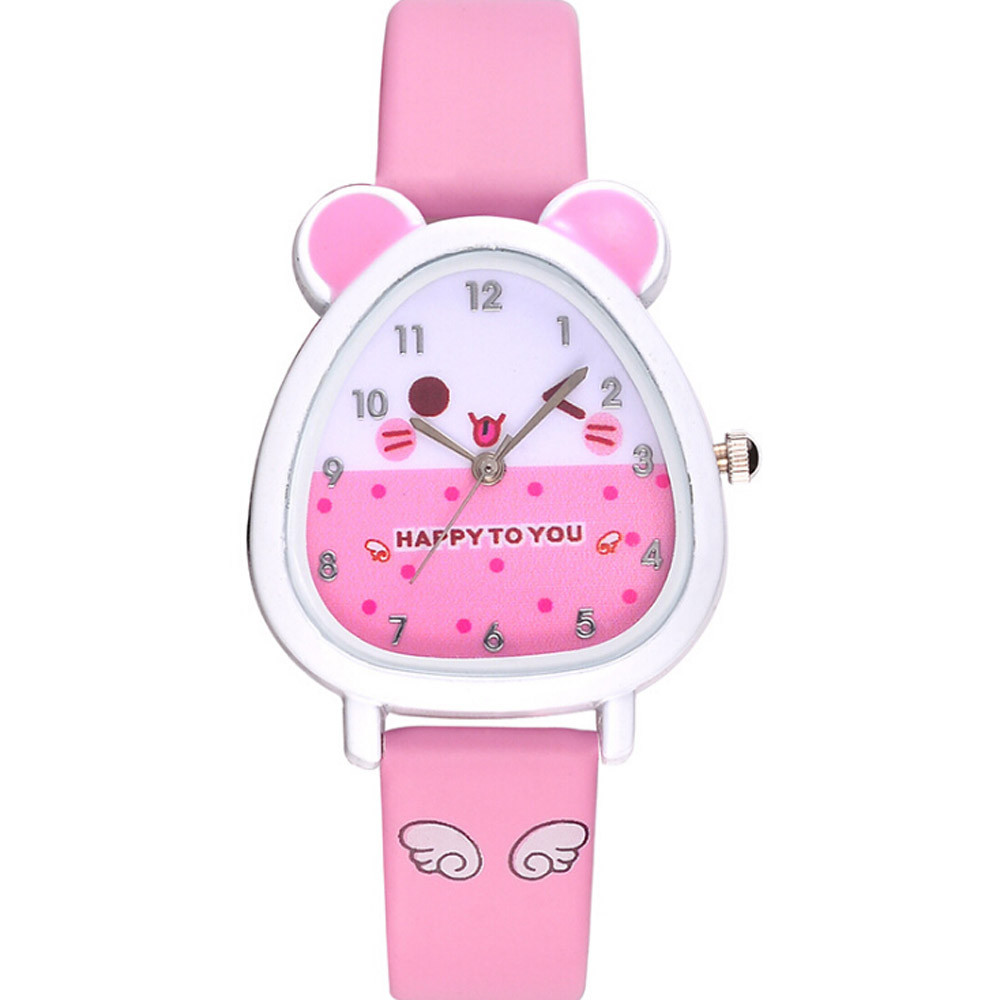 Children's watch cute animal solid color pattern kids boys and girls quartz watch watch birthday gift souvenir часы детские 50*