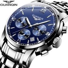 Guanqin Heren Quartz Horloges Luxe Chronograaf Datum Klok Top Merk Sport Horloge Zwemmen Horloge Relojes Hombre