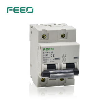 FEEO 2P DC Circuit Breaker 125A DC 550V 800V Circuit breaker FOR PV System CE Certificate [zob] muller moeller eaton lzmb2 4 a200 circuit breaker 4p200a adjustable 125a 200a original
