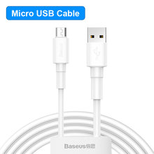 Baseus mikro USB kablosu 2.4A hızlı şarj kablosu 0.5m/1m/2m