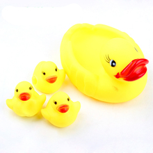 Duck child bath toys duck small baby for all ages 4pcs/ lot ( one big and 3 small) WJ091