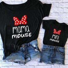 Camisetas familiares de moda para mamá y yo, ropa a juego para mamá y MIMI, Tops de algodón para madre y niña, camisetas