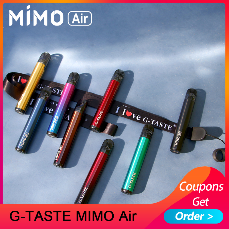 Newest G-taste MIMO Air Pod Kit 450mah built-in battery with 1.3ml Pod capacity pod system vaporizer VS minifit/mimo kit