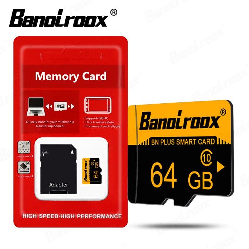Banolroox-Tarjeta de memoria microsd Clase 10, Tarjeta de memoria micro sd de 64GB, 128GB, 32GB, 16GB y 8GB, 256gb, Tarjeta TF