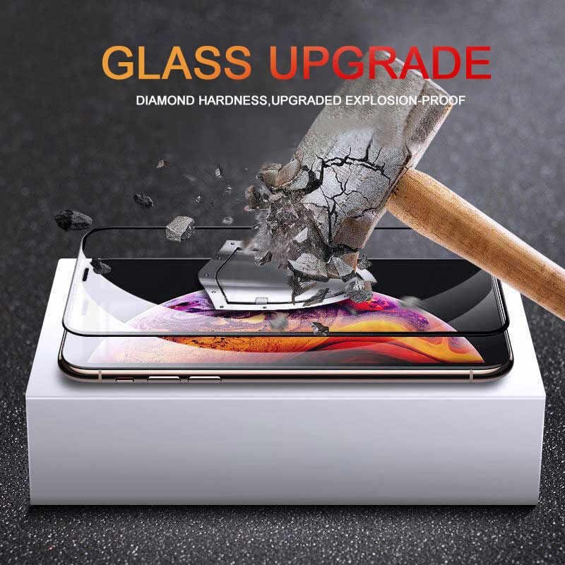واقي شاشة 15D منحني الحافة على آيفون 8 X XS Max XR واقي شاشة مقسى لهاتف آيفون 7 8 6 6S Plus X