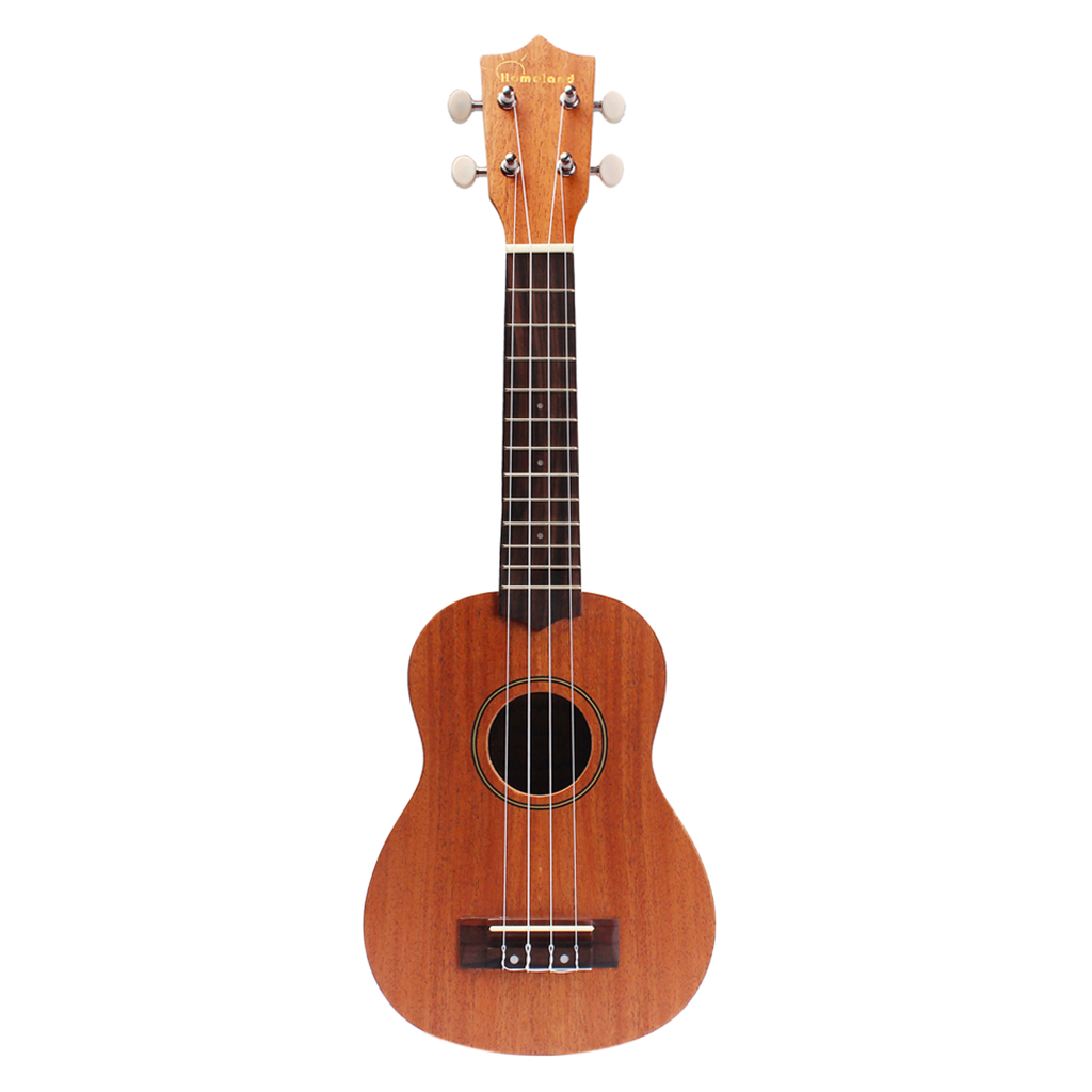 21 Inch Ukulele Mini Uke 15 Frets 4string Hawaiian Guitar Musical Instrument Brown