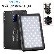 VIJIM VL 1 מיני LED וידאו אור מגנטי Dimmable צילום תאורה על מצלמה 96 נוריות מנורת W קר נעל גבוהה CRI96