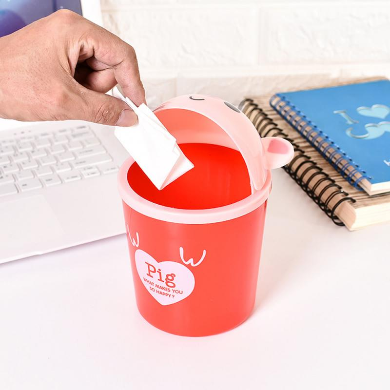 1pc Multifunction Creative Waste Bin Desktop Trash Bin Trash Can Storage Bucket <font><b>Car</b></font> Toilet Waste Storage <font><b>Box</b></font> Organizer Trash Can image