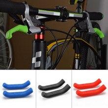 Empuñadura de bicicleta de montaña, cubierta de silicona antideslizante para manillar extraíble, 1 par