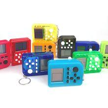 Mini consola de juegos de ladrillo llavero Vintage de mano reproductor de juegos niños regalo juguete L41F