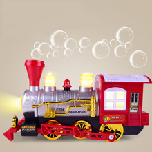 Bubble Train Musical Electric Bubble Blowing Machine Realistic Cartoon Light Toy