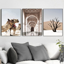цена на Desert Camel Wall Art Canvas Painting Poster Landscape Posters And Prints Wall Print Paintings Pictures Canvas Picture Art Print
