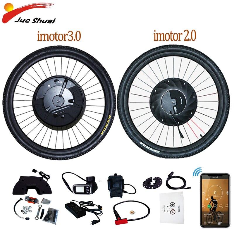 Imotor Electric bike Conversion Kit Bluetooth 36V 500W Bicycle Conversion Kit 24-29inch EBike Front Bicycle hub Motor Wheel