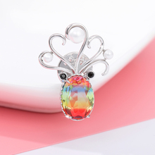 Cute Octopus Head Brooches Color Exquisite Crystal Animal Clothes Pin For Friend Pearl CZ Zircon Coat Pins Brooch Jewelry Gifts цена 2017