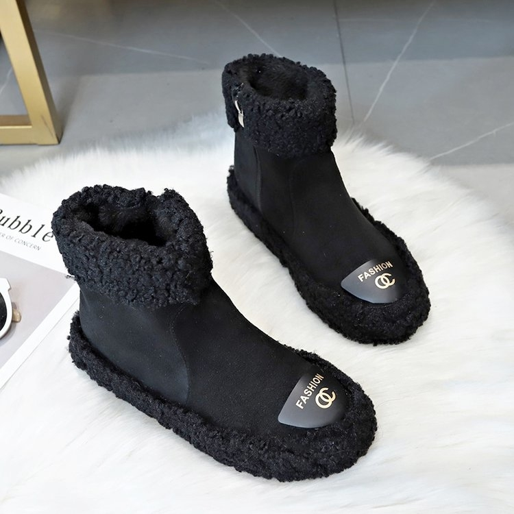 Women Boots 2019 New Plush Snow Boots For Winter Shoes Women Casual Lightweight Ankle Botas Mujer Warm Winter Boots Female 71
