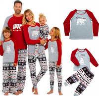 Family Christmas Pajamas Set Family Father Mother Kids Sleepwear 2019 Xmas Family look Tops+Pants 2PCS Family Mathing Sleepwear
