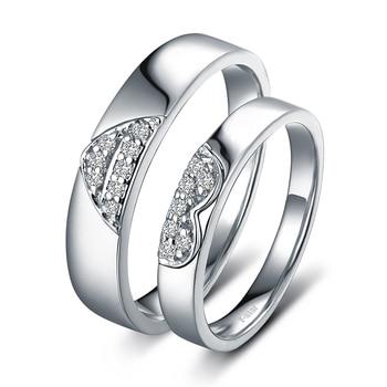 0.15ct/men 0.20ct/women18ct Gold Diamond Couple Set Rings Wedding Bands Engagement Rings for Men Women Free DHL Shipping 2