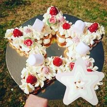 Форма пентаграммы форма для торта шоколадное печенье Кондитерские десертные формы инструменты для украшения торта Экологичные Аксессуары для выпечки домашних животных