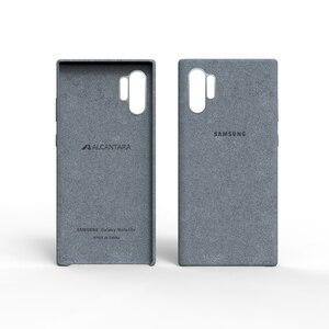 Image 4 - サムスン注 10 プラスアルカンタラケース公式オリジナル本物のスエードレザープロテクターケースサムスンギャラクシー Note10 プロ 10 +