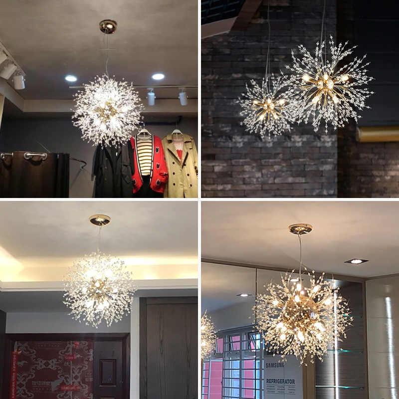 Candelabro de diseño de diente de león redondo de cristal Fss, iluminación para sala de estar, dormitorio, Lustre, candelabro de cocina, accesorios de iluminación para interiores