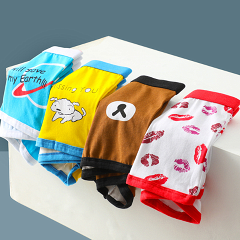 2020 NEW Autumn Cartoon Boxer Underwear High Quality Cotton Sexy Boxer Men Funny Underwear For Couples Brand Underpants Man