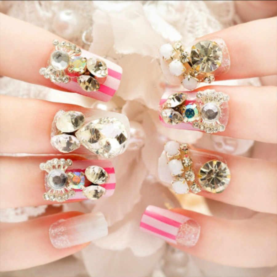 1 Pcs Branco AB Chapeamento Broca Espelho Prego Pó Glitter Flocos de Cor Metálica Nail Art Gel Polimento Chrome Decorações Manicure