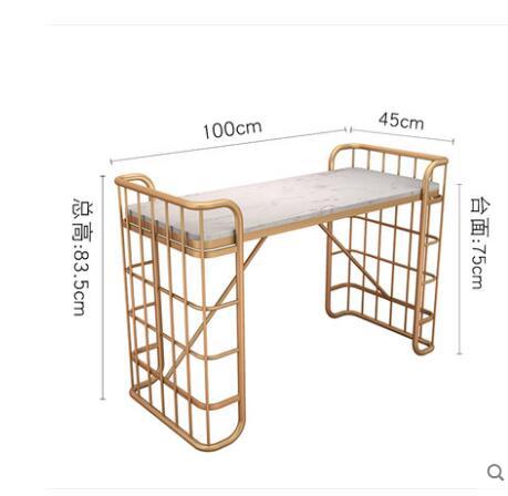 Скандинавский мраморный столик для ногтей магазин украшения стол и стул набор одиночных двойных людей Маникюрный Стол простой и модер - Цвет: 1