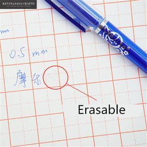 Image 3 - 2 + 50ピース/セット0.5ミリメートルブルーブラックインク消去可能なリフィルロッド消去可能なペン洗えるハンドルスクール書き込み文房具ゲルインクペン