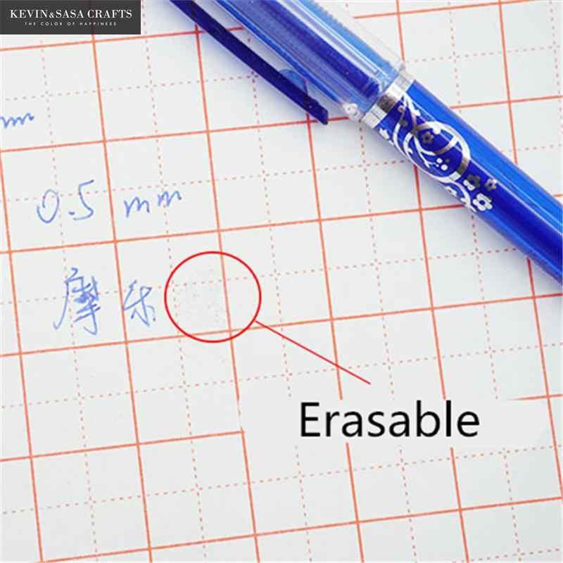 2 + 50 Pcs/סט 0.5mm כחול שחור דיו ג 'ל עט מחיק מילוי מוט מחיק עט רחיץ ידית כתיבת ספר מכתבים ג 'ל דיו עט