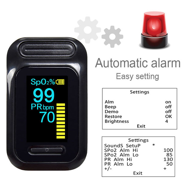 ELERA Portable Finger Pulse Oximeter Blood Oxygen Saturation meter Fingertip Pulsoximeter SPO2 Monitor Oximetro dedo Oximeter 1