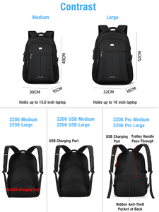 Image 2 - BaLang Laptop sırt çantası 15.6 inç şarj USB bağlantı noktası bilgisayar sırt çantaları erkek su geçirmez erkek iş sırt çantası kadın seyahat çantaları