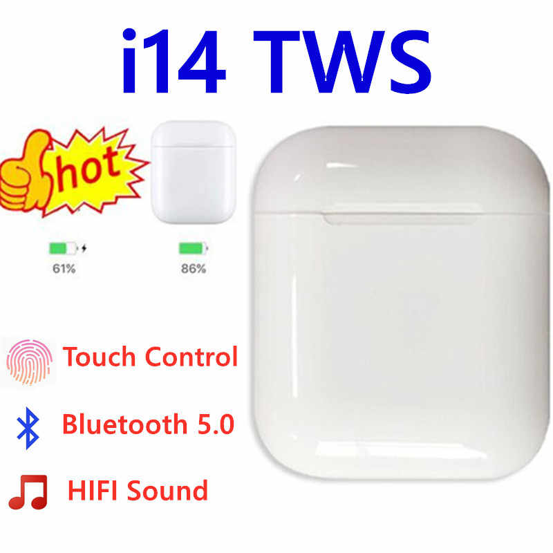i14 TWS i 14 tws true wireless 1:1 ear buds headphones bluetooth handsfree earphone super bass earbuds for iphone xs samsung s9