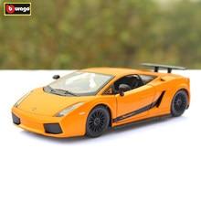 Bburago 1:24 Lamborghini Gallardo Orange alloy car model simulation car decoration collection gift toy цена