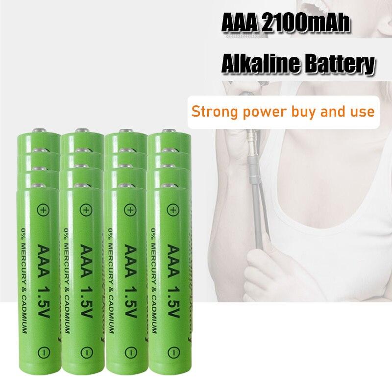 Щелочная аккумуляторная батарея 1,5 в AAA 2100 мАч для игрушек, пульт дистанционного управления, легкая батарея