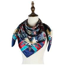 Платок фабричная шелковая шаль 90 см квадратный хиджаб Пейсли