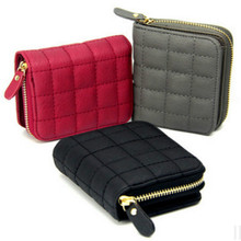Women Short Wallets PU Leather Female Plaid Purses Ladies Card Holder Wallet Fashion Woman Small Zipper Wallet With Coin Purse leftside designer pu leather women cute short money wallets with zipper female small wallet lady coin purse card wallet purses