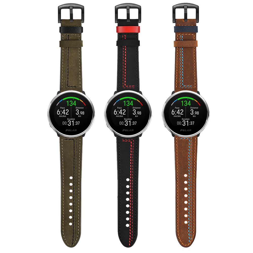 Leather Strap For POLAR IGNITE Smartwatch Band For POLAR Vantage M Replacement Accessories Watchband