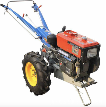 Domestic walking tractor 8 horsepower small walking tractor two wheel tractor diesel self-propelled tractor walking tractor 15hp rotary tiller tractor single cylinder diesel engine agricultural small tractor