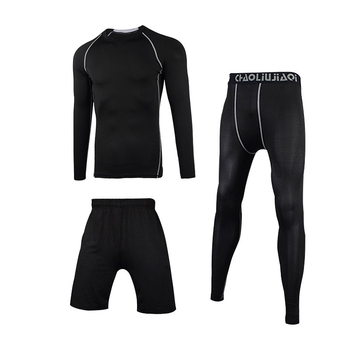 Men Sportswear Compression Sport Suits Quick Dry Running Sets Clothes Sports Joggers Training Gym Fitness Tracksuits Running Set 19