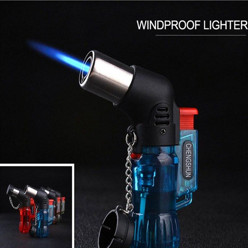 US $2.51 13% OFF|Kitchen Lighters Mini Butane Jet Torch Cigarette Windproof  Lighter Random Color Plastic Fire Ignition Burner NO GAS on AliExpress