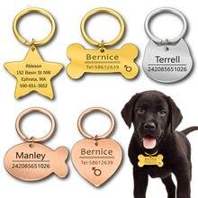 Personalisierte Katze Hund Pet ID Tag Keychain Gravierte Pet ID Name für Katze Welpen Hund Kragen Tag Anhänger Schlüsselring Knochen pet Zubehör