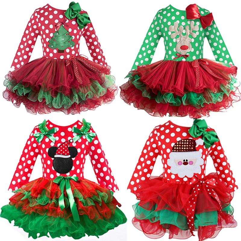 2 6T Santa Claus Christmas Dress Kids Party New Year Costume Winter Snowman Baby Girl Clothes Innrech Market.com