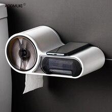 Wielofunkcyjny darmowym przepychaczem pudełko na chusteczki uchwyt na papier toaletowy uchwyt na papier plastikowy pojemnik do przevhowywania toaletowy wodoodporny do łazienki akcesoria