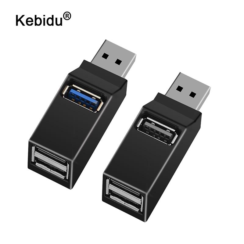 Mini Hub USB 3.0 universel à 3 Ports, adaptateur de boîte de séparation de transfert de données à haute vitesse pour MacBook Pro PC portable