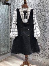 Женское шерстяное платье с воротником стойкой однотонное винтажное