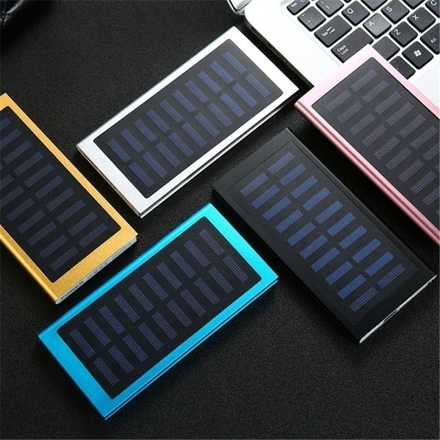 30000mAh Power Bank Solar Ultra High Capacity External Ultra Thin 9mm Charger for Mobile Phone for Outdoors/camping/explore 4
